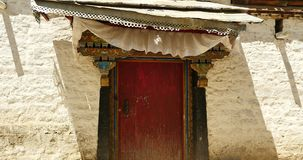 4k Tibet tradition houses with religion pattern,lhasa resident area. stock video