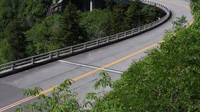 4K Tilt Down Empty Road. 4K Tilt Down Empty Linn Cove Viaduct during summer stock video footage