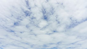 4K Time-lapse : Cloudscape timelapse, white clouds running across the blue sky. 4K/UHD Time-lapse : Cloudscape timelapse, white clouds running across the blue stock video footage
