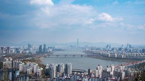 The Han River Scenic Area in Seoul, the capital of South Korea.