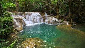 4k Time-lapse of Huay Mae Kamin waterfall stock video