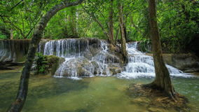 4k Time-lapse of Level 7 of Huay Mae Kamin waterfall stock video footage