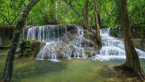 4k Time-lapse of Level 7 of Huay Mae Kamin waterfall stock footage
