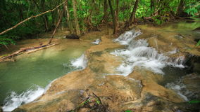 4k Time-lapse of Level 7 of Huay Mae Kamin waterfall stock video