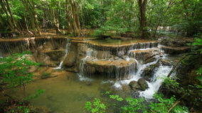 4k Time-lapse of Level 6 of Huay Mae Kamin waterfall stock video footage