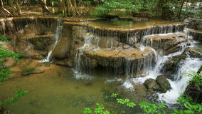 4k Time-lapse of Level 6 of Huay Mae Kamin waterfall stock footage
