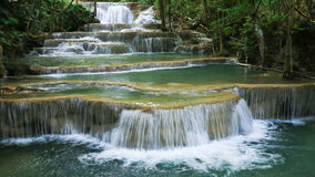 4k Time-lapse of Level 1 of Huay Mae Kamin waterfall stock video footage