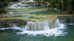 4k Time-lapse of Level 1 of Huay Mae Kamin waterfall stock footage