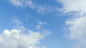 Time lapse motion white clouds. stock footage