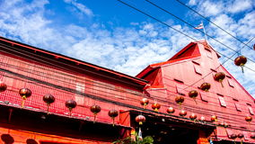 4K Time-lapse Old building songkhla stock video footage