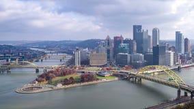 4K time lapse of Pittsburgh. Pennsylvania, USA stock footage