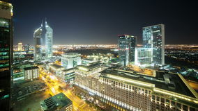 4k time lapse from the roof on night dubai city. Time lapse from the roof on night trffic dubai city stock footage
