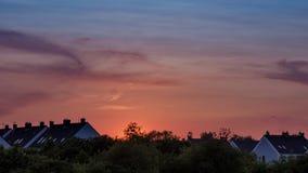 4K Time Lapse summer sunset stock video