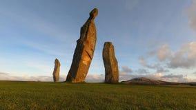 4k time lapse of sunrise at Lundin Links Standing Stones, Fife
