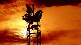 4K. time lapse sunset at dusk. FULL HD, 4096x2304. Royalty Free Stock Photos