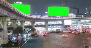 4K Time Lapse : Tilt shift time lapse of highway traffic downtown Bangkok, Thailand with ProRes 422HQ Blur content. stock video footage
