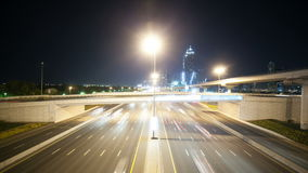 4k time lapse from the traffic street in dubai stock video