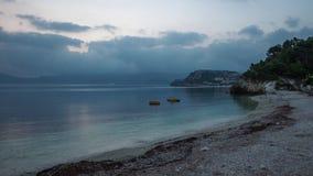 4K time lapse video of sunrise on Padulella, Elba, Italy stock video footage
