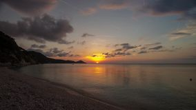 4K time lapse video of the sunset at Capobianco, Elba, Italy stock footage