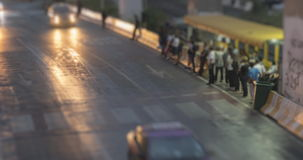 4K Time Lapse 4096x2160 : The traffic motion and green billboard with ProRes 422HQ Blur content. stock video footage
