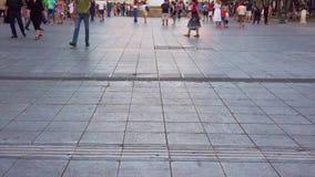 4K Timelapse人民的脚走 影视素材