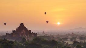 4K Timelapse świątynie Bagan przy wschodem słońca, Mandalay, Myanmar zbiory