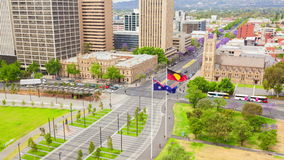 4k timelapse βίντεο της στο κέντρο της πόλης περιοχής στην Αδελαΐδα, Αυστραλία
