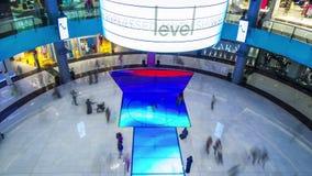 4K timelapse Πάτωμα των οδηγήσεων λεωφόρων LCD του Ντουμπάι απόθεμα βίντεο