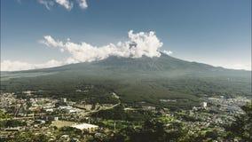 4K Timelapse του βουνού του Φούτζι, Ιαπωνία μπλε ουρανός σύννεφων Λίμνη Kawaguchiko φιλμ μικρού μήκους