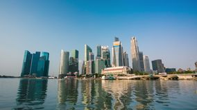 4k timelapse του ορίζοντα πόλεων της Σιγκαπούρης φιλμ μικρού μήκους