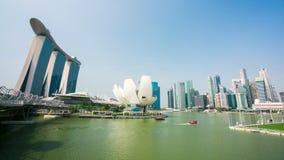 4k timelapse του ορίζοντα πόλεων της Σιγκαπούρης απόθεμα βίντεο