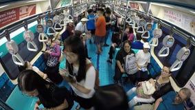 4K Timelapse бассейна поезда автомобиля Тайбэя Отпразднуйте Universiade 2017 сток-видео