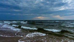 4K timelapse 来到海滩的波浪 股票视频