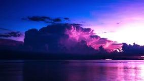 4K timelapse 海上有雷暴的,苏梅岛海岛,泰国的以后的风暴 股票视频