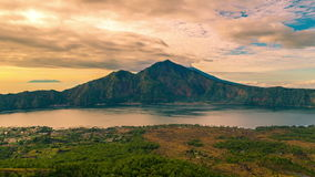 4K timelapse 湖Batur全景  2015年7月15日,巴厘岛,印度尼西亚 影视素材