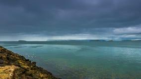 4K timelapse 暴风云在海峡大西洋 冰岛, 2015年6月15日 影视素材