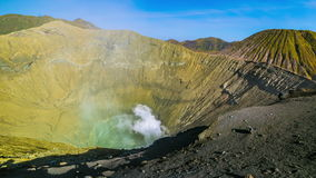 4K Timelapse. Active volcano crater Bromo. East Java, Indonesia - 25 July 2015 stock video footage
