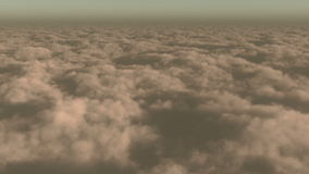 4k timelapse,aerial of white cloud mass flying in sky from high altitude. stock video