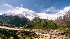 4k Timelapse Annapurna ΙΙ βουνό (7.937 μ) απόθεμα βίντεο