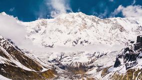 4k Timelapse of Annapurna I mountain 8,091 m stock video footage