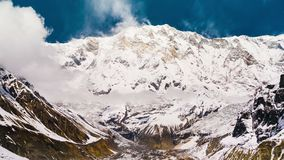 4k Timelapse of Annapurna I mountain 8,091 m stock footage