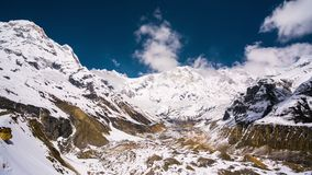 4k Timelapse of Annapurna I mountain, 8,091 m  stock footage