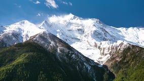 4k Timelapse Annapurna II góra, 7.937 m zbiory