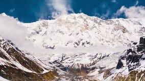 4k Timelapse Annapurna Ja góra, 8.091 m zbiory