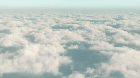 4k timelapse, antenn av det vita molnmassflyget i himmel från hög höjd lager videofilmer