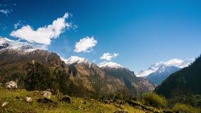 4k Timelapse av det Manaslu berget, 8.156 metrar arkivfilmer