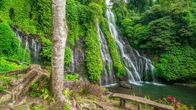 Timelapse Beautiful Banyumala Waterfall in Bali, Indonesia. 4K Timelapse in Bali Island, indonesia stock video