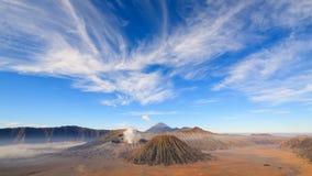 4K Timelapse Of Bromo volcano, East Java, Indonesia stock video