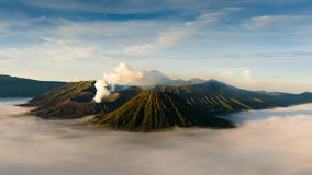 4K Timelapse of Bromo volcano at sunrise stock video footage