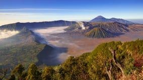 4K Timelapse of Bromo volcano at sunrise,Tengger Semeru national park, East Java, Indonesia stock video